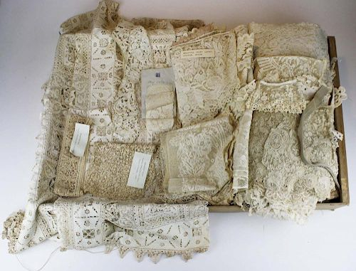 Collection Of Fine Antique Lace Incl. 18Th C. Fragments