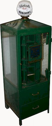 Boorum & Pease Display Cabinet With Glass Globe On Top