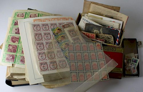 Postage Stamp Collection.