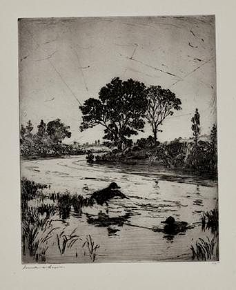 Frank W. Benson (1862-1951) The River