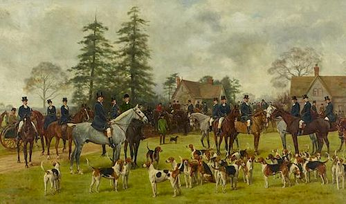 George Goodwin Kilburne (English, 1839-1924) The Beaufort Meeting at Frocester