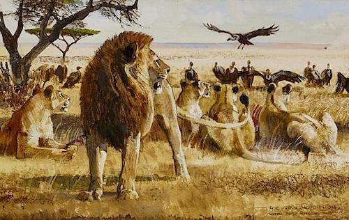 Bob Kuhn (1920-2007) Lions