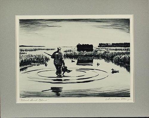 Churchill Ettinger (1903-1984) Two Drypoints