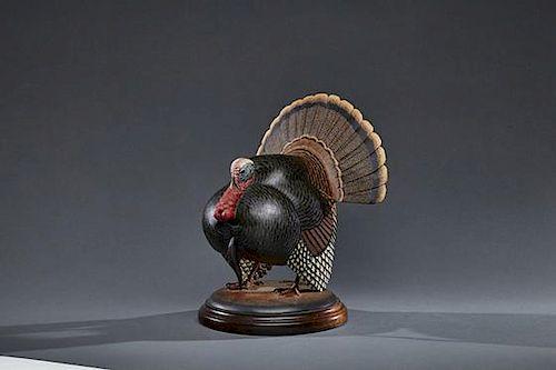 One-Quarter-Size Turkey in Strut Eddie Wozny (b. 1959)