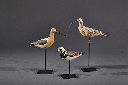 Three Miniature Shorebirds Eddie Wozny (b. 1959)