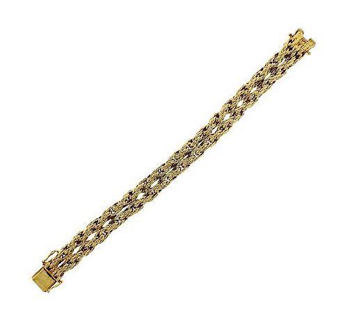 38ebe2ea3 Tiffany & Co 18k Gold Woven Bracelet by Hampton Estate Auction ...