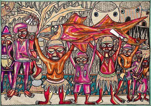 "Femi Aro (Nigeria, 20th c.) ""The Fish Hunters"""