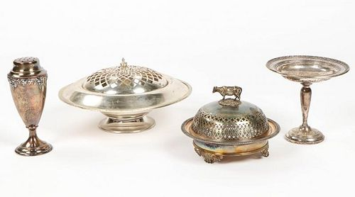 4 Silver and Silverplated Tablewares