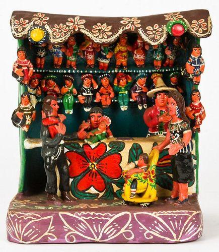 Vintage Ocumicho Market Doll Vendor Figural Group