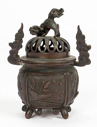 Antique Japanese Bronze Koro Censer
