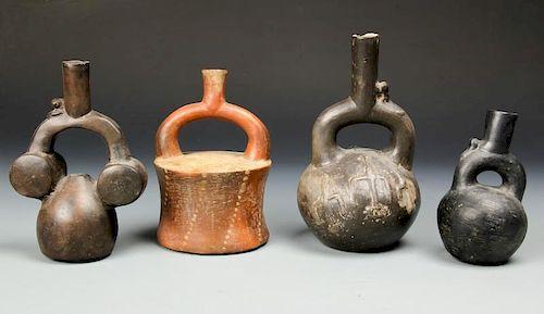 4 Pre Columbian Stirrup Vessels