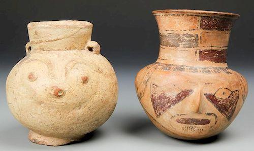 2 Pre Columbian Chancay Culture Jars