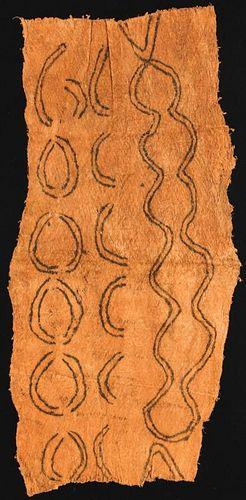 Painted Bark Panel, M'biti Pygmy People (DRC)