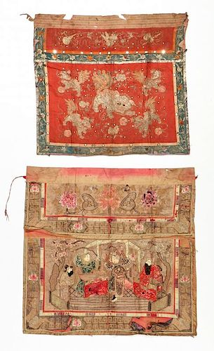 2 Chinese Altar Cloths, Java, Indonesia