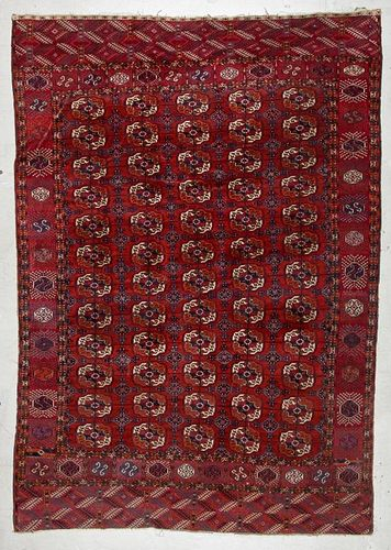 Antique Tekke Main Carpet: 6'11'' x 9'10''