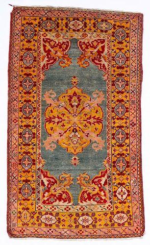 Antique Oushak Rug: 3'1'' x 5'1'' (94 x 155 cm)