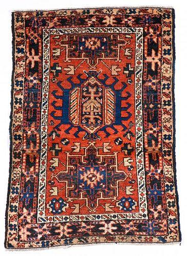 Antique Karadja Rug: 3' x 4' (91 x 122 cm)