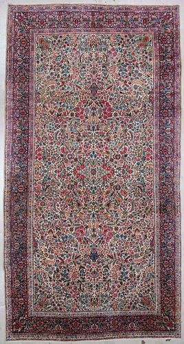 Antique Mansion-Size Kerman Rug: 9'3'' x 18'3'' (282 x 556 cm)