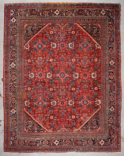 Antique Mahal Rug: 10'8'' x 13'9'' (325 x 419 cm)