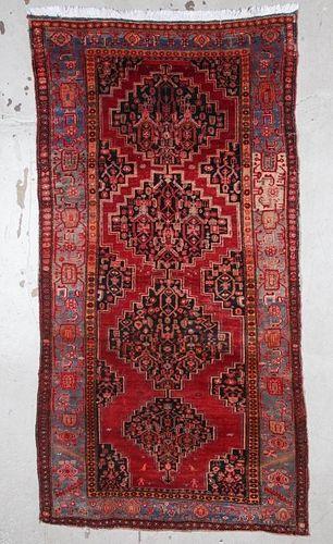 """Antique Kurdish Bidjar Rug 5'1"""" x 9'8"""" (155 x 295 cm)"""