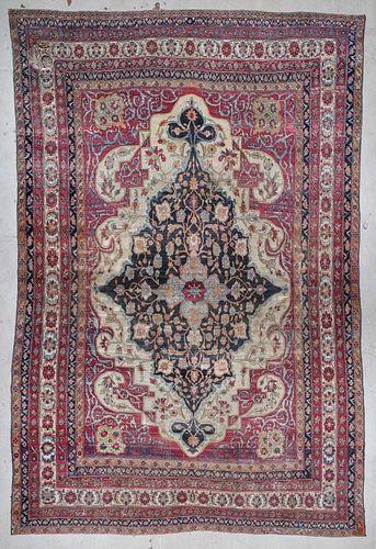 Mansion-Size Antique Lavar Kerman Rug: 11'8'' x 17'6''