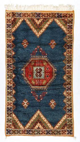 Vintage Moroccan Rug: 3'5'' x 6'5'' (104 x 196 cm)