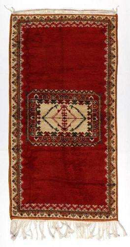 Vintage Moroccan Rug: 3'6'' x 6'8'' (107 x 203 cm)