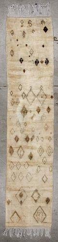 Vintage Moroccan Rug: 2'5'' x 10'7'' (74 x 323 cm)