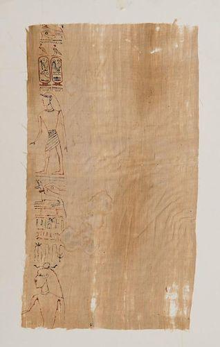 EGYPTIAN INSCRIBED LINEN MUMMY CLOTH