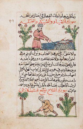 ARABIC SCHOOL: ILLUSTRATED MANUSCRIPT PAGE