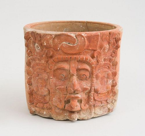 MAYAN RELIEF CARVED TERRACOTTA BOWL