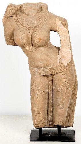 Indian Stone Parvati Torso