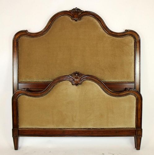 French Louis XV style high back bed