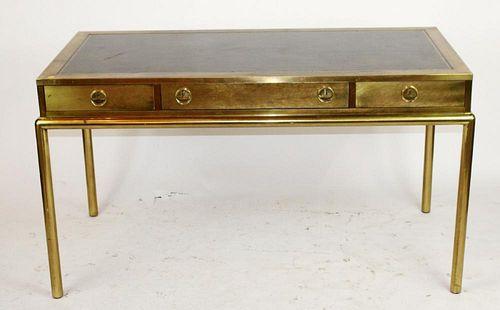 Bernard Rohone for Mastercraft  brass bureauplat desk