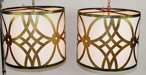 Lot of 2 Modern cylinder chandeliers