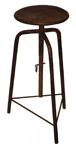 Antique French artist's sculpting easel