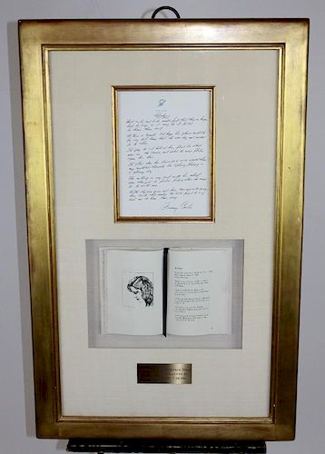 President Jimmy Carter hand written poem