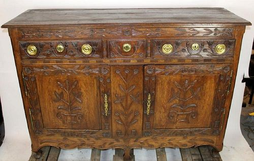 19th century buffet bas from Lorraine