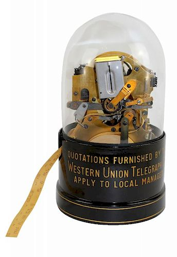 Thomas Edison stock market ticker