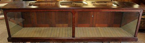 American mahogany display case