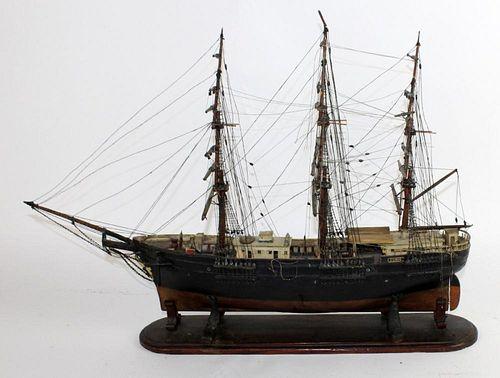 "Early 20th century ""Eunie"" clipper ship model"