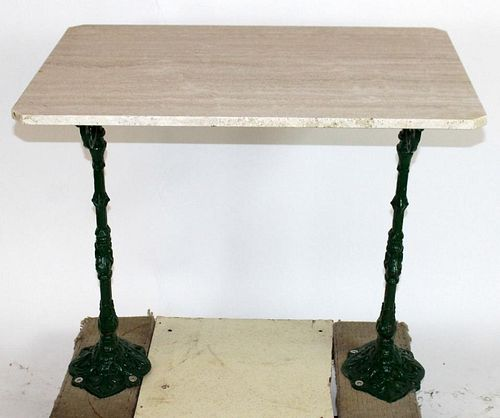 French double iron base cafe table