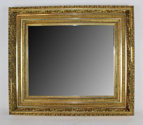 Early 20th century gold leaf mirror
