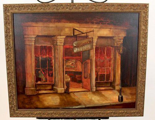Oil on canvas Muhlenbrink's Saloon