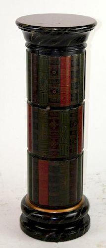 Faux book form pedestal