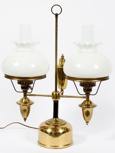 DOUBLE STUDENT OIL LAMP LATE 19TH C.