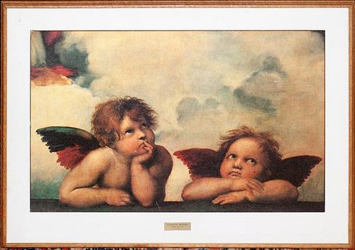 AFTER RAPHAEL PRINT FROM SISTINE CHAPEL