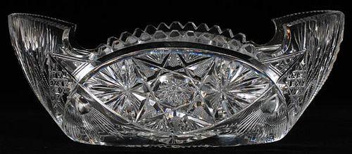 CUT GLASS CENTERPIECE BOWL C. 1900