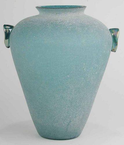 """Large """"Scavo"""" Glass Vase"""