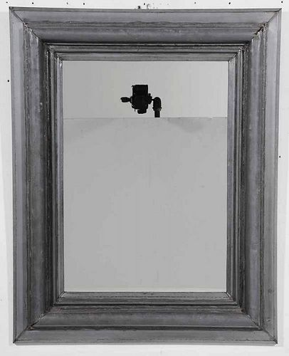Grey Tin Framed Mirror